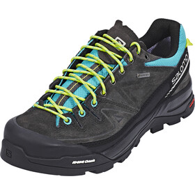 Salomon X Alp LTR GTX Shoes Women Deep Peacock Blue/Phantom/Lime Punch